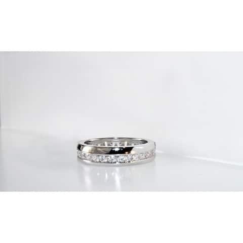 Handmade Eternity Wave Cubic Zirconia Ring