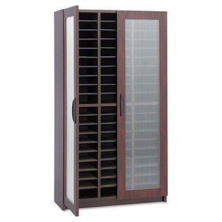 Safco Literature Organizer Particleboard/Polycarbonite 60 Compartments Mahogany