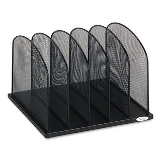 Safco Mesh Desk Organizer Five Sections Steel 12 1/2 x 11 1/4 x 8 1/4 Black