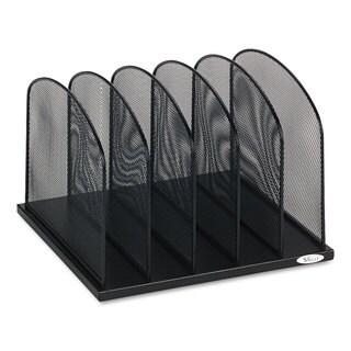 Safco Mesh Desk Organizer Five Sections Steel 12 1/2 x 11 1/4 x 8 1/4 Black
