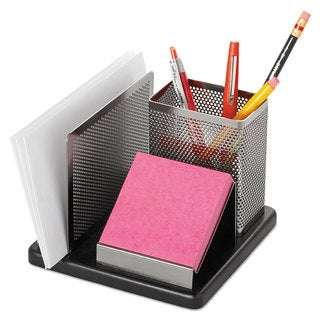 Rolodex Distinctions Desk Organizer 5 7/8 x 5 7/8 x 4 1/2 Metal/Black