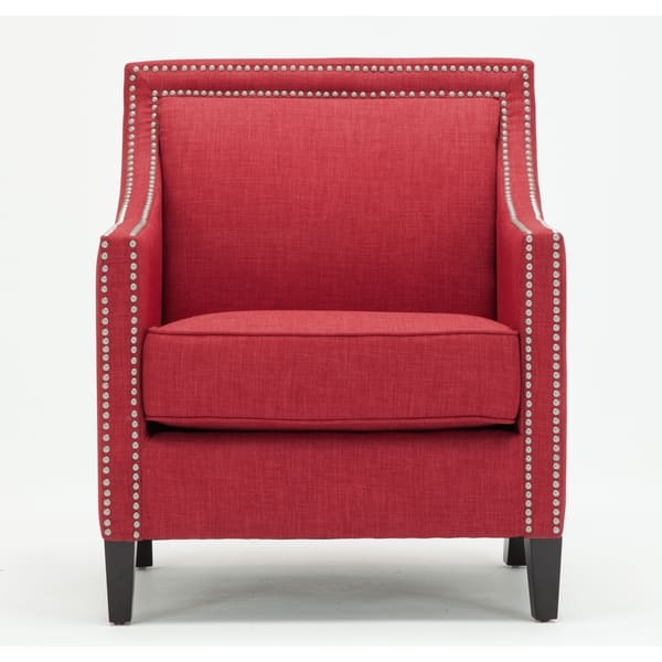 Awesome Shop Copper Grove Birkenfeld Red Accent Chair Free Onthecornerstone Fun Painted Chair Ideas Images Onthecornerstoneorg