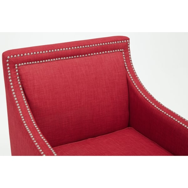 Pleasing Shop Copper Grove Birkenfeld Red Accent Chair Free Onthecornerstone Fun Painted Chair Ideas Images Onthecornerstoneorg