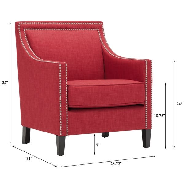 Tremendous Shop Copper Grove Birkenfeld Red Accent Chair Free Onthecornerstone Fun Painted Chair Ideas Images Onthecornerstoneorg