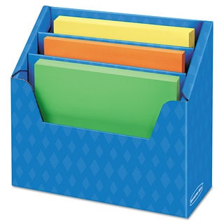 Bankers Box Folder Holder with Compartment Organizer 12 1/2 x 9 x 5 5/8 Blue