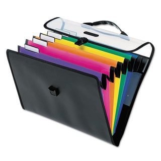 Pendaflex Desk Free Hanging 6-Pocket Organizer with Case 1/3 Tab Letter Poly Asstorted