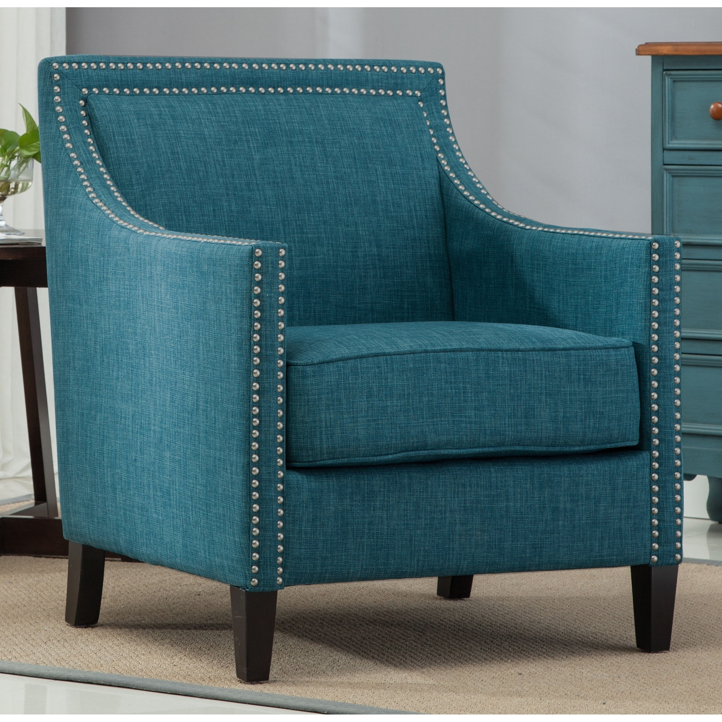 Shop Tanner Teal Accent Chair By Greyson Living Free Shipping On