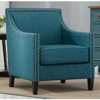 Oliver & James Earnshaw Teal Accent Chair