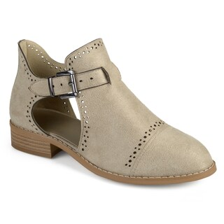 Journee Collection Women's 'Tinsly' Laser Cut Buckle Booties (More options available)