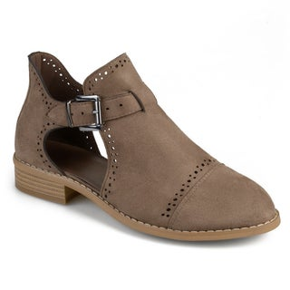 Journee Collection Women's 'Tinsly' Laser Cut Buckle Booties