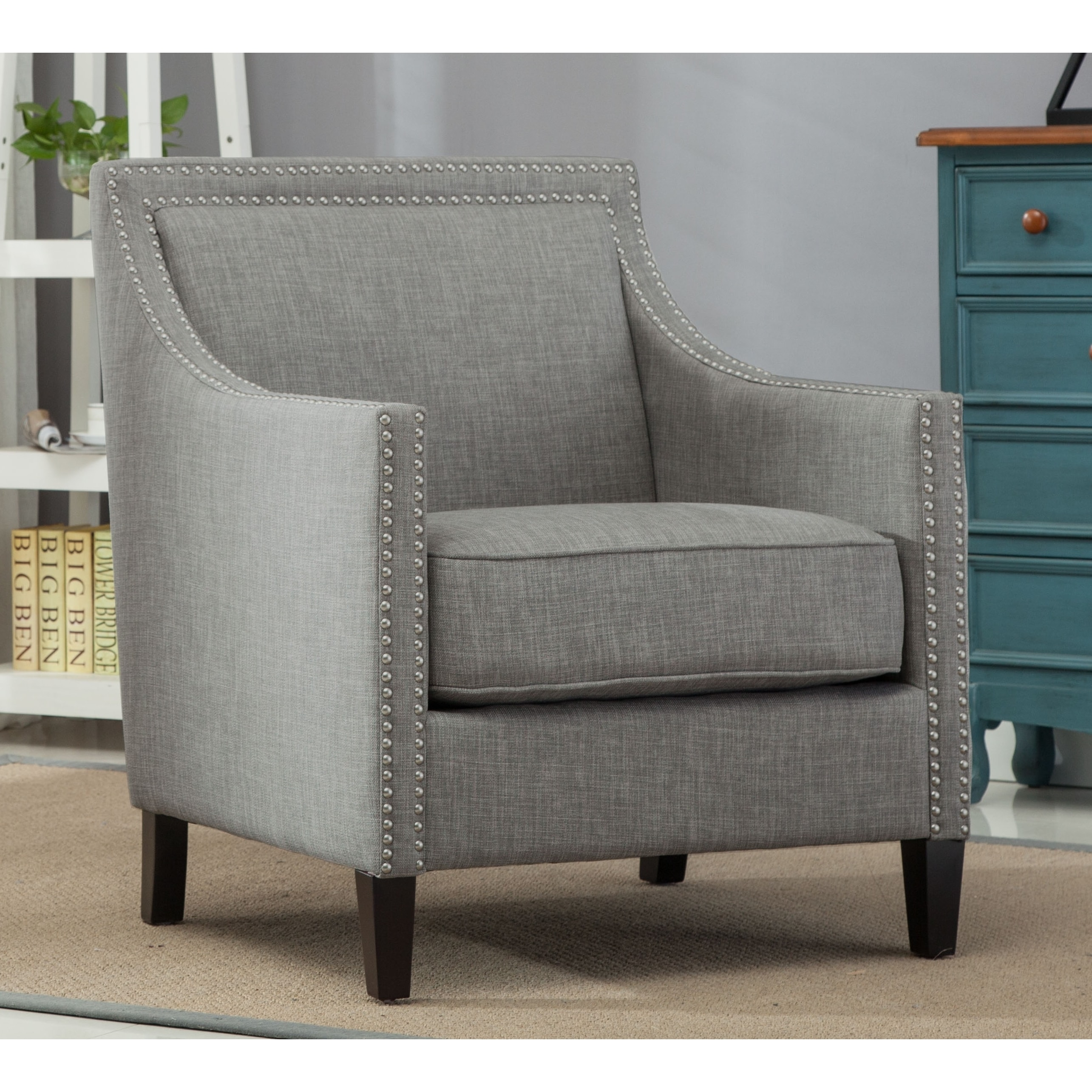 Shop Tanner Gray Accent Chair By Greyson Living Free