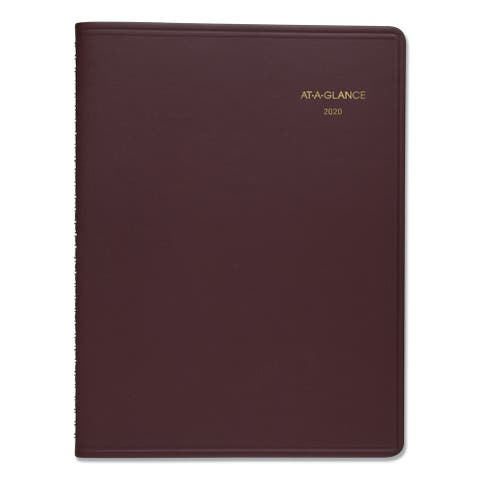AT-A-GLANCE Weekly Appointment Book, 10 7/8 x 8 1/4, Winestone, 2020-2021