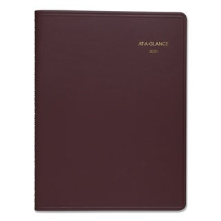 AT-A-GLANCE Weekly Appointment Book, 8 1/4 x 10 7/8, Winestone, 2018-2019