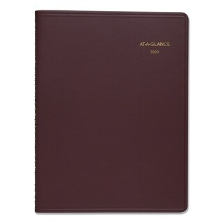 AT-A-GLANCE Weekly Appointment Book, 8 1/4 x 10 7/8, Winestone, 2019