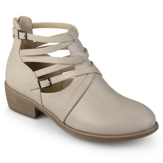 Journee Collection Women's 'Savvy' Strappy Faux Leather Booties