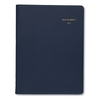 AT-A-GLANCE Weekly Appointment Book, 8 1/4 x 10 7/8, Navy, 2019