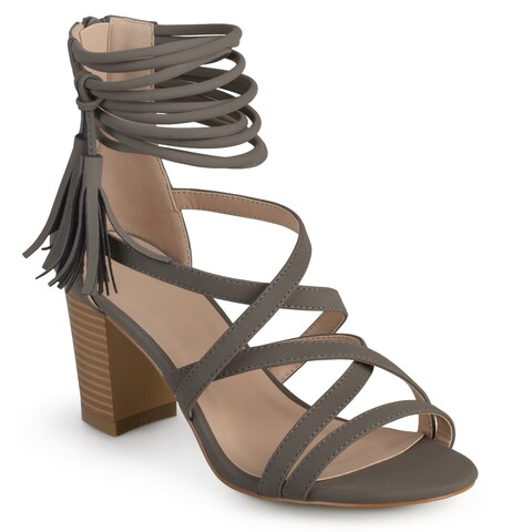 Journee Collection Women's 'Ruthie' Strappy Tassel High Heels