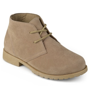 Journee Kids Boy's 'Milo' Lace-up Faux Suede Chukka Boots (Option: Beige)