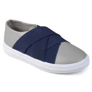 Journee Kids Boy's 'Archie' Contrast Elastic Faux Leather Slip-on Shoes