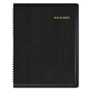 AT-A-GLANCE Triple View Weekly/Monthly Appointment Book, 8 1/4 x 10 7/8, Black, 2018