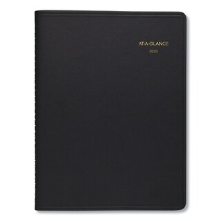 AT-A-GLANCE Two-Person Group Daily Appointment Book, 8 x 10 7/8, Black, 2018