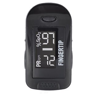 Concord Blackox Fingertip Pulse Oximeter with Reversible Display, Carrying Case, Laynard and Protective Cover