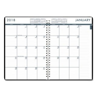 House of Doolittle Recycled 24/7 Daily Appointment Book/Monthly Planner, 10 x 7, Black, 2018