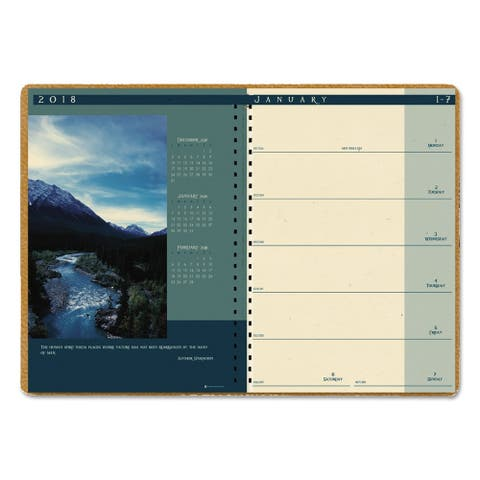 House of Doolittle Recycled Landscapes Weekly/Monthly Planner, 8 1/2 x 11, Brown, 2018