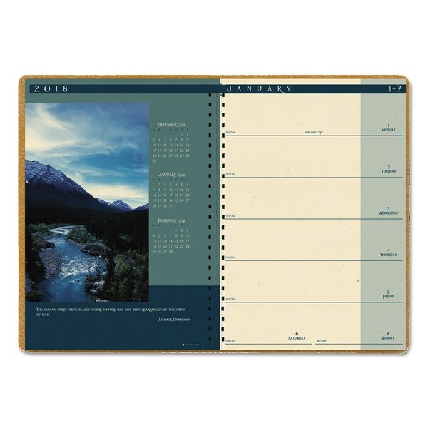 House of Doolittle Recycled Landscapes Weekly/Monthly Planner, 8 1/2 x 11, Brown, 2018. Opens flyout.