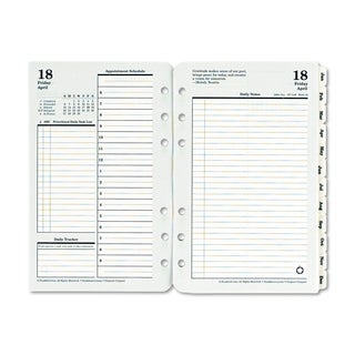 FranklinCovey Original Dated Daily Planner Refill, January-December, 4 1/4 x 6 3/4, 2018