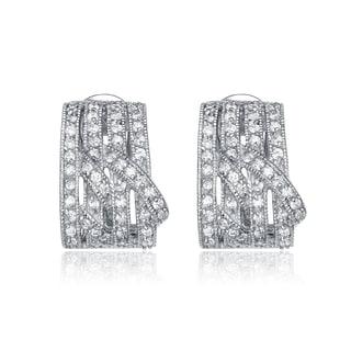 Collette Z Sterling Silver Cubic Zirconia Four Column Earrings