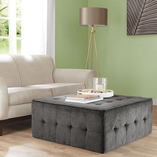 Madison Park Tyche Charcoal Oversized Cocktail Ottoman