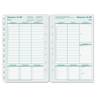 FranklinCovey Original Dated Weekly/Monthly Planner Refill, Jan.-Dec., 5 1/2 x 8 1/2, 2018