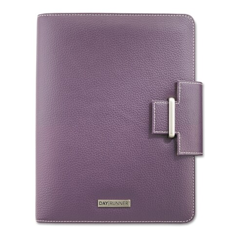 AT-A-GLANCE Day Runner Terramo Refillable Planner, 5 1/2 x 8 1/2, Eggplant