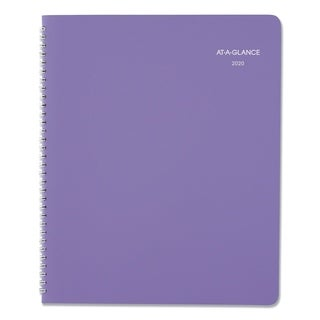 AT-A-GLANCE Beautiful Day Monthly Planner, 8 1/2 x 11, Purple, 2017-2018