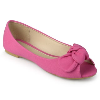 Journee Kids Girl 'Teslin' Canvas Knot Bow Flats