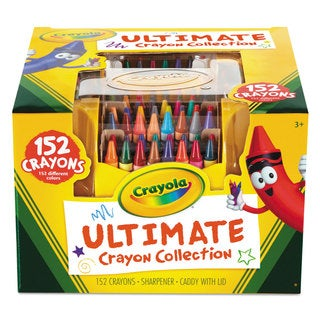Crayola Ultimate Crayon Case Sharpener Caddy 152 Colors