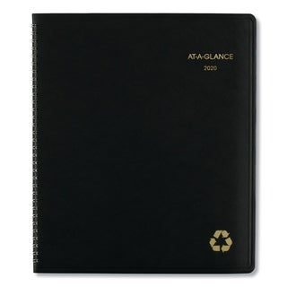 AT-A-GLANCE Recycled Monthly Planner, 9 x 11, Black, 2018-2019