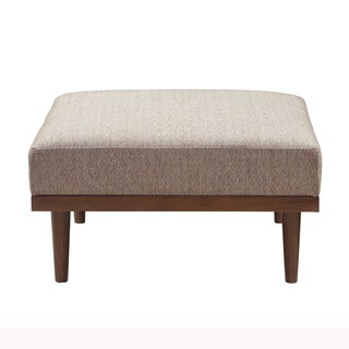 INK+IVY Stanton Tan/ Pecan Square Sectional Ottoman