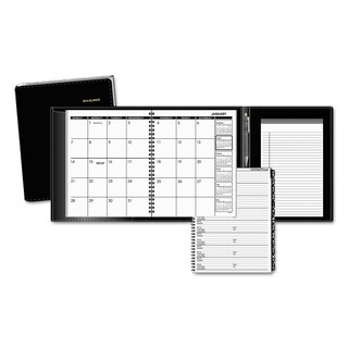 AT-A-GLANCE Plus Monthly Planner, 6 7/8 x 8 3/4, Black, 2018