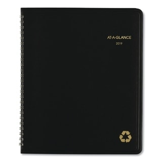 AT-A-GLANCE Recycled Monthly Planner, 6 7/8 x 8 3/4, Black, 2018