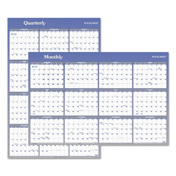 Shop At A Glance Vertical Horizontal Erasable Wall Planner