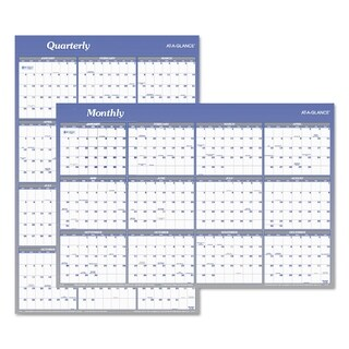 AT-A-GLANCE Vertical/Horizontal Erasable Wall Planner, 24 x 36, 2019