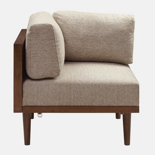 INK+IVY Stanton Tan/ Pecan Square Corner Sectional Chair