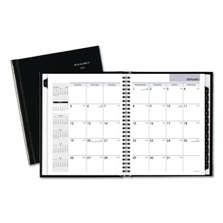 AT-A-GLANCE DayMinder Hard-Cover Monthly Planner, 6 7/8 x 8 5/8, Black, 2018
