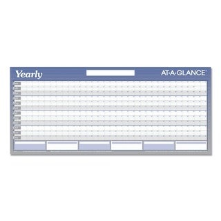 AT-A-GLANCE Large Horizontal Erasable Wall Planner, 60 x 26, White/Blue, 2019