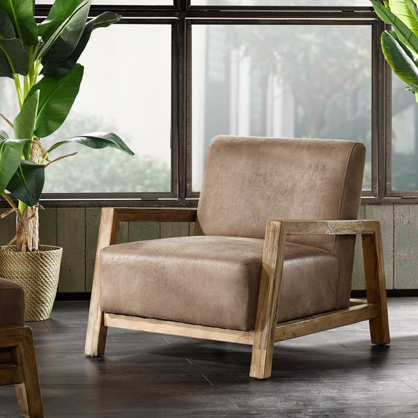 Strick & Bolton Ezhel Taupe Lounge Chair. Opens flyout.