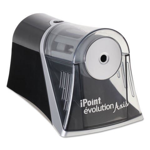 iPoint Evolution Axis Pencil Sharpener Black/Silver 4 1/4 -inch wide x 7-inch deep x 4 3/4h
