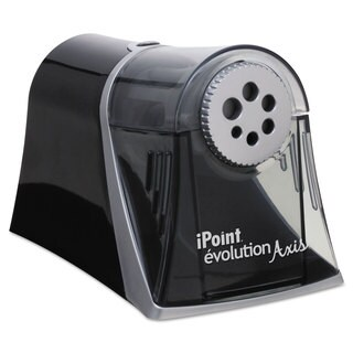 iPoint Evolution Axis Pencil Sharpener Black/Silver 5-inch wide x 7 1/2-inch deep x 7 1/4-inch high