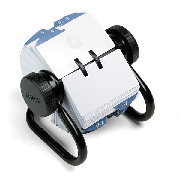 Rolodex Open Rotary Card File Holds 500 2-1/4 x 4 Cards Black. Opens flyout.